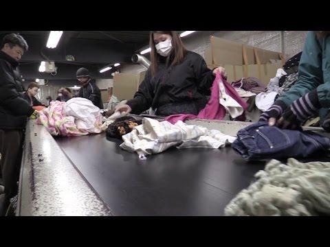 ②さぬきっ子環境スタディ 「衣類のリサイクル」(有)田代商店の取組み《香川県》