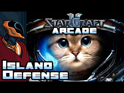 Let's Play Starcraft 2 Arcade: Island Defense - Part 2 - You'll Never Get Me! Nahahah... Oh.