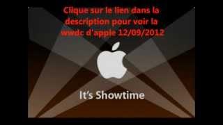 Keynote WWDC apple iphone 12/09/2012 en live direct commenté