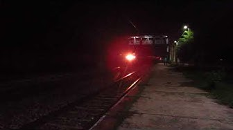 First Time Ever   Night Scorcher Bangalore Rajdhani Sprints past Vrindavan Rd with BRC WAP-5 in Lead