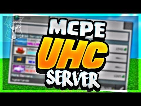 BEST UHC SERVER FOR MCPE ( WORKING ) UHC SERVERS MINECRAFT PE IP