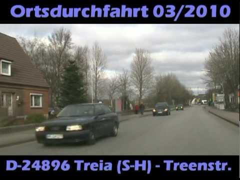 D-24896 Treia (S-H) Ortsdurchfahrt 2010 auf Treenestraße (B201)