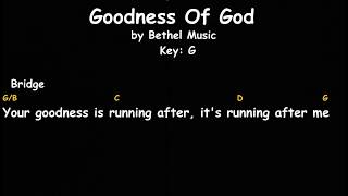Goodness of God || Bethel Music || Lyrics And Chords