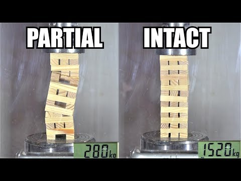 How Strong Are Jenga Towers? Hydraulic Press Test!
