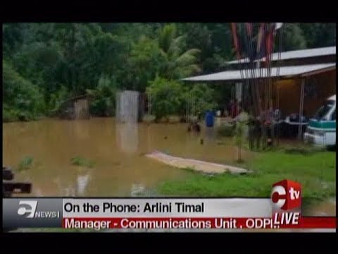 Flooding Affects Residents In South, Central And North East Trinidad