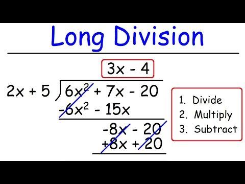 Polynomials -  Long Division