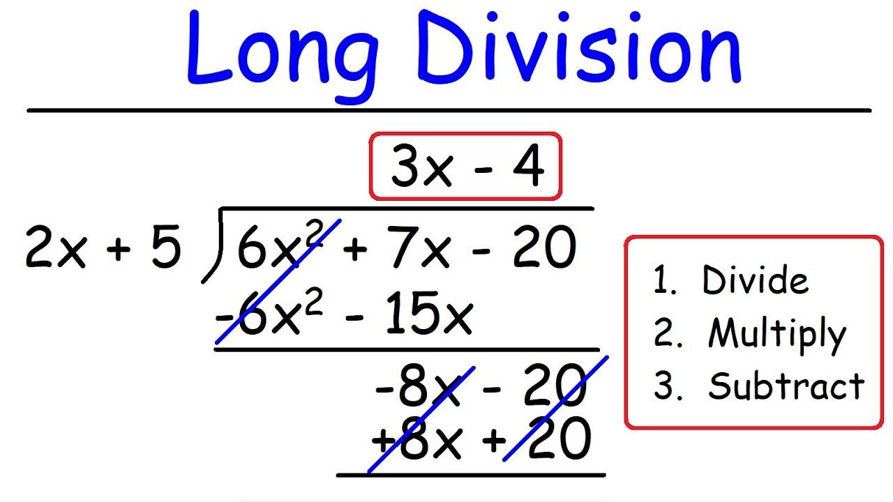Long Division of Polynomials (solutions [ 720 x 1280 Pixel ]