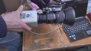 Видеокамера + объектив(Изготовление прижимного кольца для закрепления объектива к видеокамере, с использованием токарного и..., 2016-02-12T22:50:59.000Z)