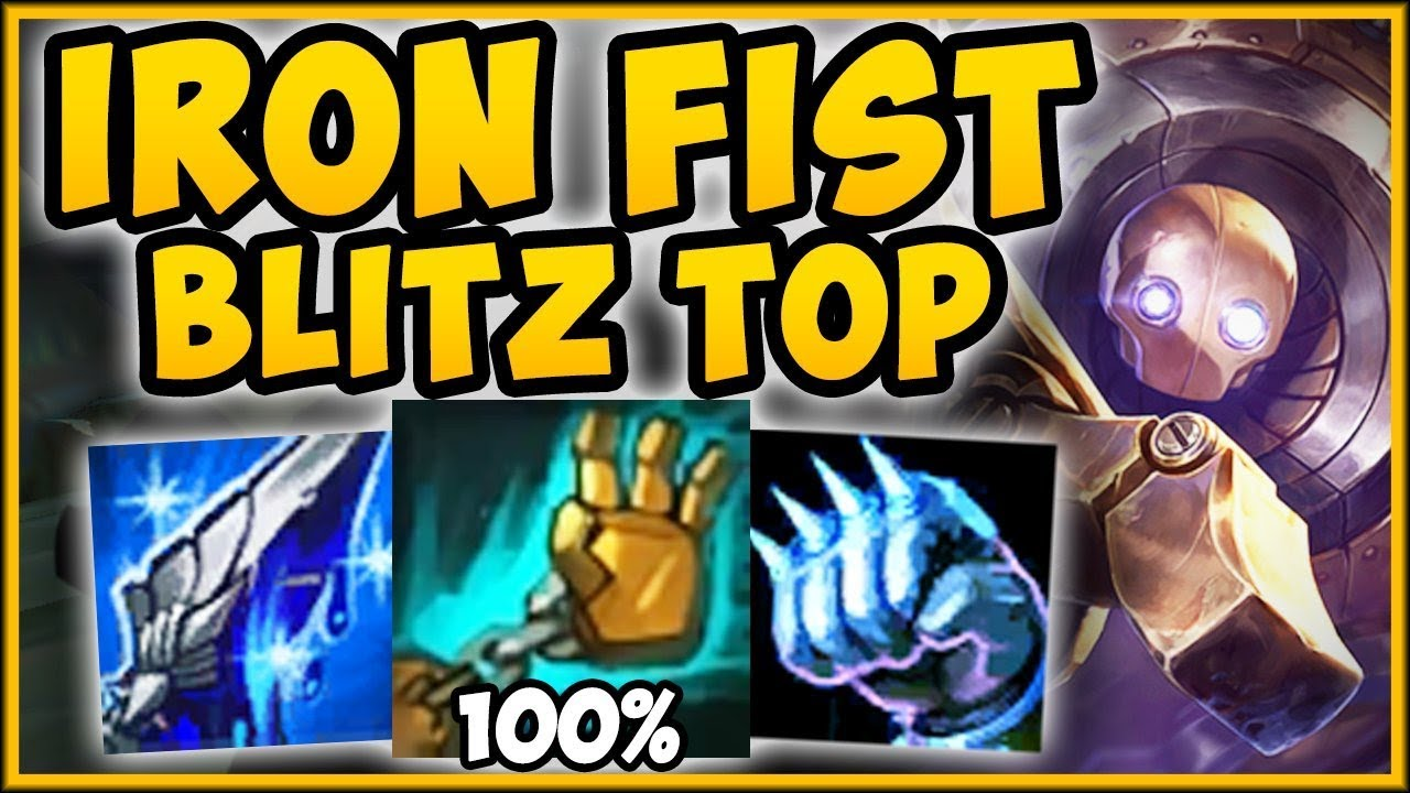100 Hook Rate Has Never Been So Easy Iron Fist Blitzcrank Top Season 9 Gameplay League Of Legends Youtube