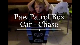 How To Make A Paw Patrol Chase Box Car/ Costume