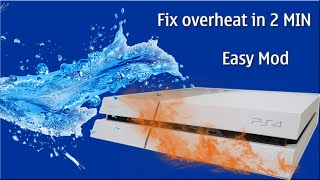 How to keep your PS4 cold Fix overheat in 2 MIN Easy Mod For Summer use
