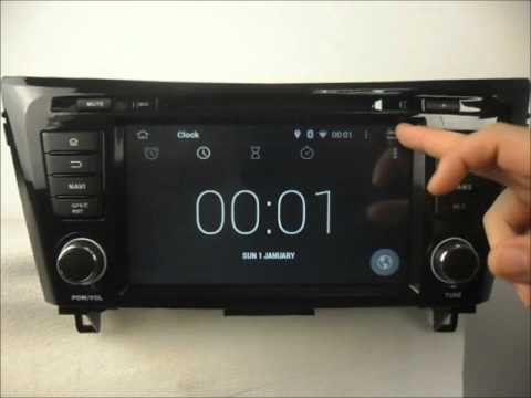 nissan qashqai 2014 2016 android auto radio dvd gps wifi youtube. Black Bedroom Furniture Sets. Home Design Ideas