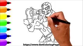 Comment dessiner Omega Aiming Avec Tac Shotgun Fortnite