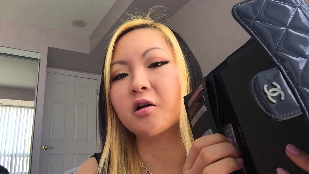 4c2a39e6f297 Chanel Patent Leather and classic Flap wallet review - YouTube
