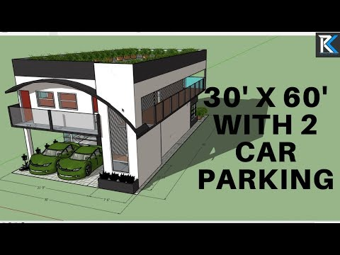 30' X 60' house design with double car parking|| By RK Survey & Design