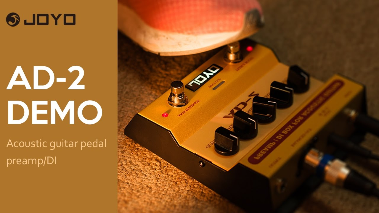 Ad 2 Acoustic Guitar Pedal Preamp Di Official Demo Youtube Electric Violin Preamplifier