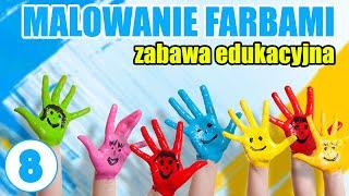 Malowanie farbami z dzieckiem rękami   Farby dla dzieci