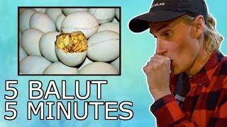 AMERICANS TRY FILIPINO STREET FOOD! (Balut Challenge)