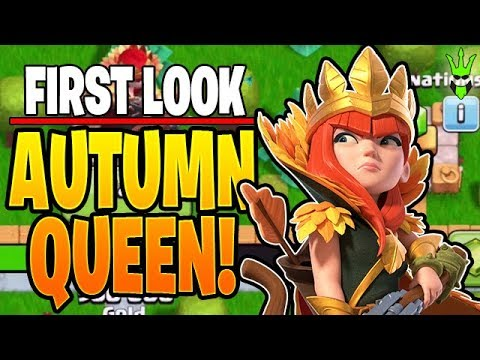 FIRST LOOK AT THE *NEW* AUTUMN QUEEN & GEMMING THE GOLD PASS! - Clash Of Clans