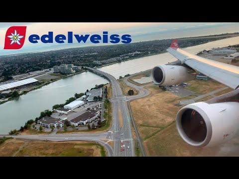 Edelweiss Air Airbus A340 Taxi And Take-off In Vancouver YVR