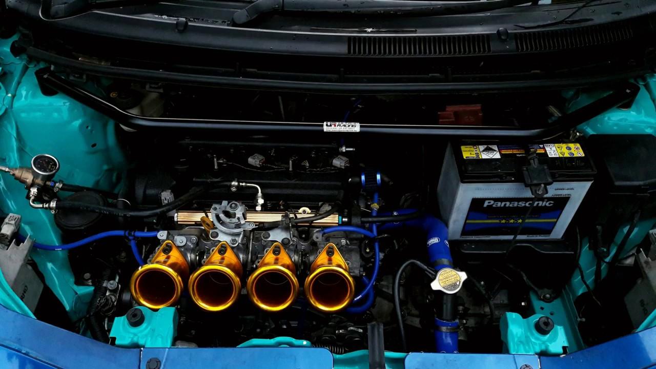 Toyota Vios 1NZFE 4 Throttle - Run Test - YouTube
