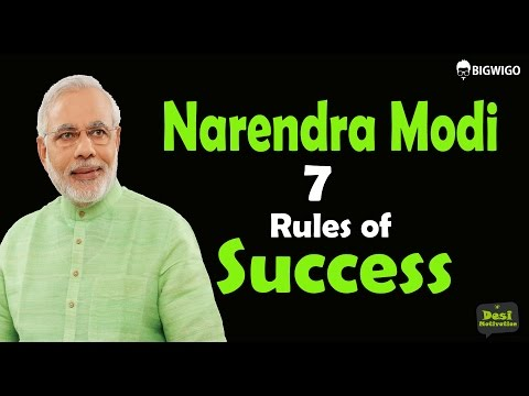 Narendra Modi 7 Rules of Success Hindi Inspirational Speech | Motivational Video