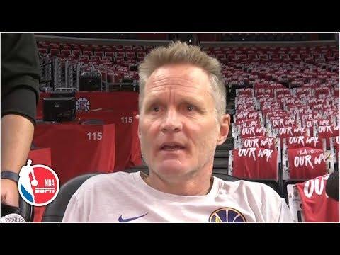 'I've got to do a better job of preparing' - Steve Kerr on Warriors' struggles | 2019 NBA Playoffs