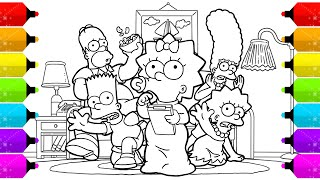 Drawing The Simpson Family Coloring Pages Youtube