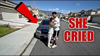 SURPRISED MY MOTHER WITH MY OLD CAR!!! **EMOTIONAL** | The Aqua Family