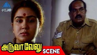 Urvashi is Taken to the Police Station | Aruva Velu Tamil Movie Scenes | Nassar | Urvashi