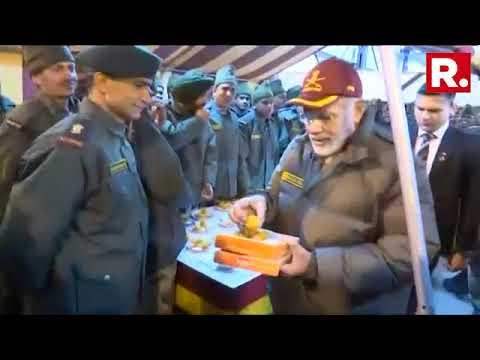 PM Narendra Modi Celebrates Diwali With Jawans Of The Indian Army & ITBP