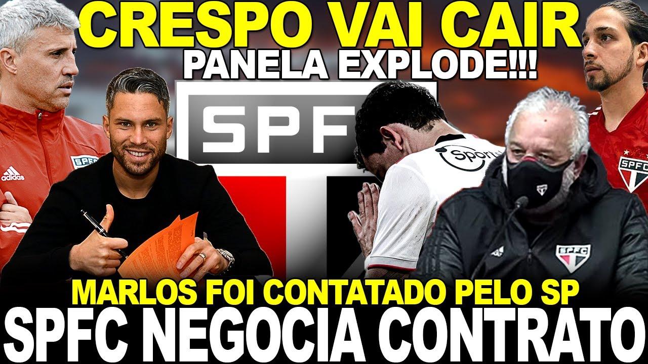 URGENTE!!! SPFC NEGOCIA COM MEIA! DEMISSÃO DE CRESPO   PANELINHA EXPLODE   MARLOS VAI VOLTAR AO BR
