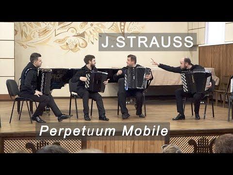 J.Strauss: Perpetuum Mobile, Op.257 AKKO Quartet ACCORDION Штраус: Вечное движение Баян квартет