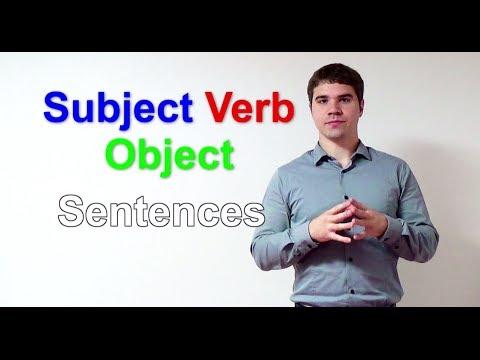 Efficient English 1: Subject Verb Object Sentences
