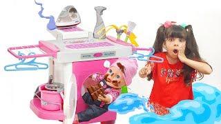 Коротше кажучи, НОВА Пральна машина для дітей-Розпакування та Огляд! Лялька БЕБІ БОН забруднилася.