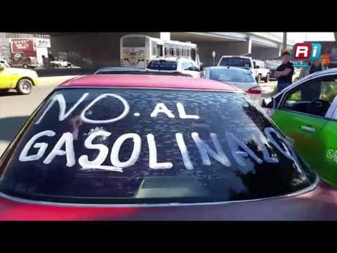 Mazatlecos se manifiestan por el gasolinazo