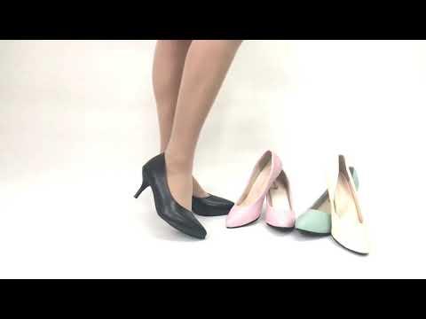 Mid Stiletto Heel Pointed Toe Pumps High Heels Shoes Ladies Damen Schuhe SH07#