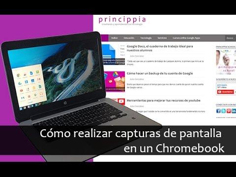 Cómo hacer una captura de pantalla en un chromebook