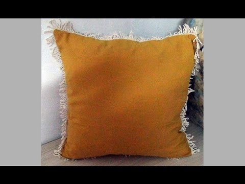 PILLOW WITH FRINGE DIY YouTube Adorable How To Make A Decorative Pillow With Fringe