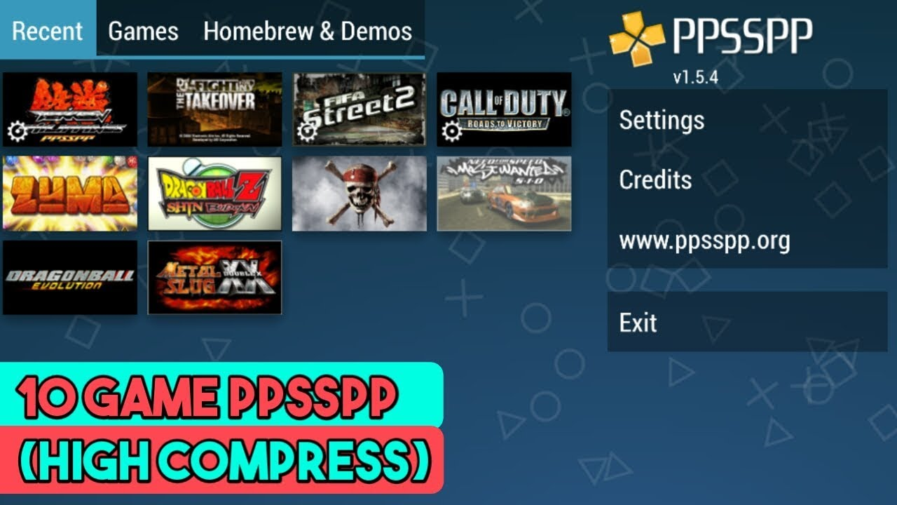 10 Game Ppsspp Size Di Bawah 500 Mb High Compress Part 1 Youtube