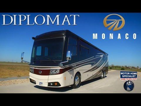 Must See New Luxury Motorhome! 2016 2017 Monaco Diplomat RV Review at MHSRV.com