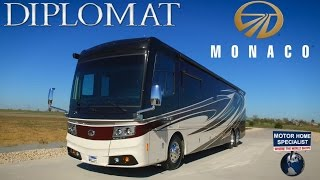 Must See New Luxury Motorhome! 2016 2017 Monaco Diplomat RV Review at MHSRV.com
