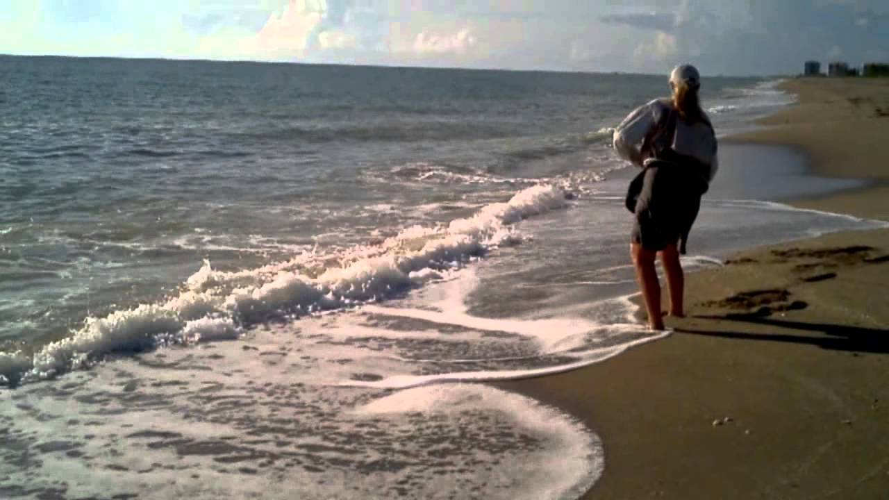 Surf fishing fort pierce on east coast of florida youtube for Beach fishing florida