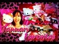 NEW VIDEO!!!! JANUARY FAVORITES 2013!! Hello Kitty Collection, Fashion, Makeup, Foods and Arts