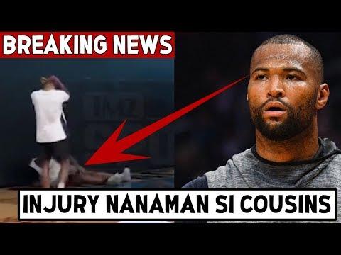 PANOORIN Ang INJURY Nanamang SINAPIT Ni Demarcus Cousins | Minalas Agad Ang Lakers