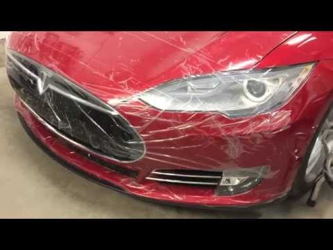 Tesla Model S Temporary Paint Protection Film (PPF)