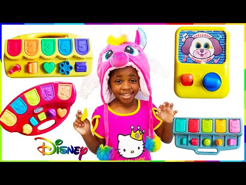 Disney Babies Mickey Mouse Pop Up Toys And Surprise Toys Pretend Pop Up Play! نتظاهر اللعب