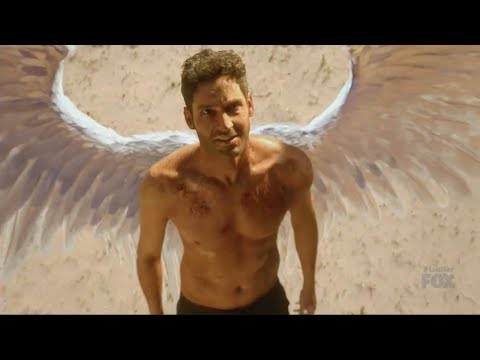 Lucifer 2x18 Ending Lucifer With Wings In Desert -Message To Chloe Season 2 Episode 18 Season Finale
