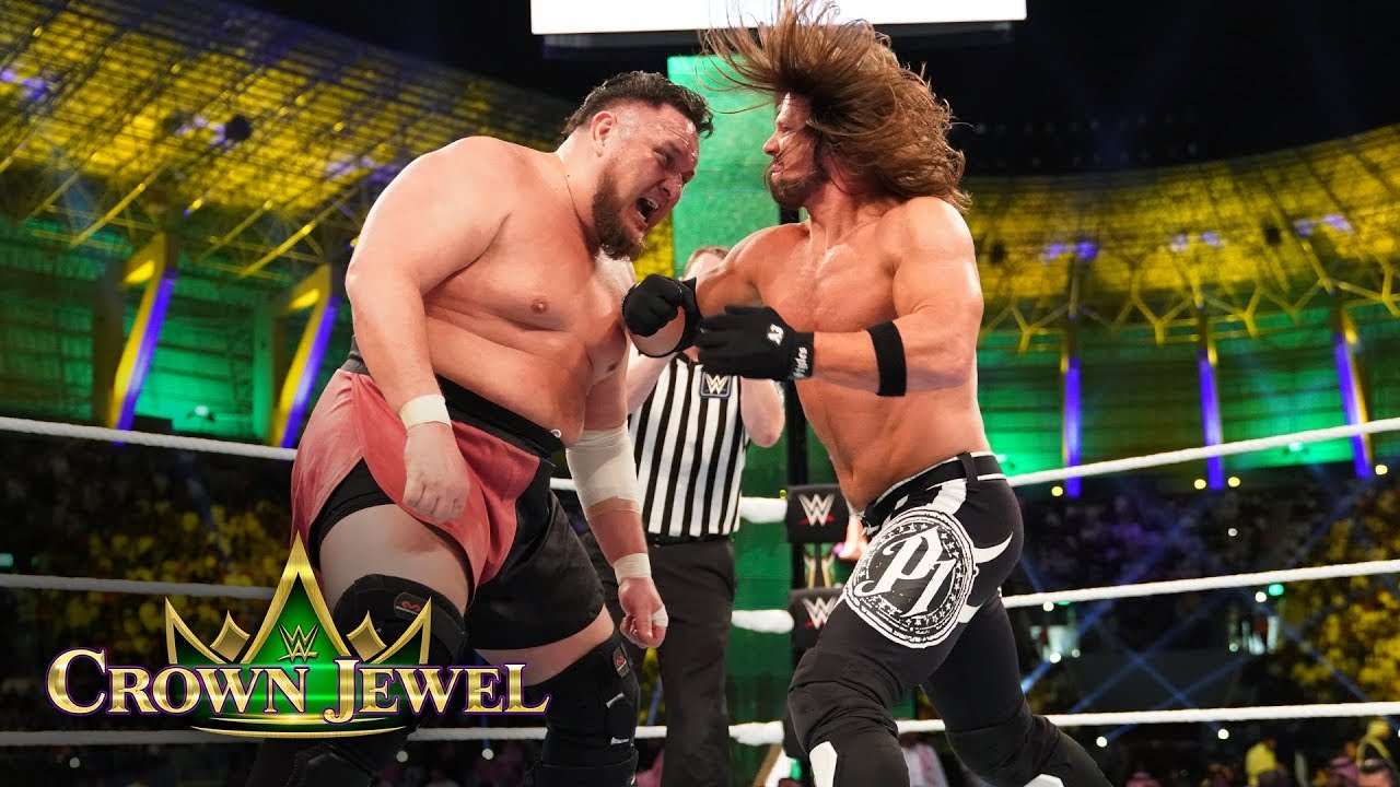 AJ Styles shows no mercy against Samoa Joe: WWE Crown Jewel 2018 (WWE Network Exclusive)