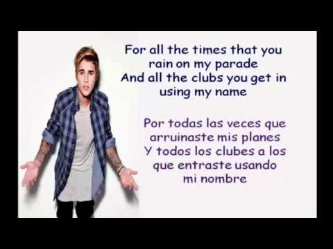 Love Yourself Lyrics español+ingles